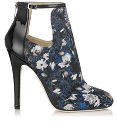 English Floral Print Fabric Ankle Boots| Luther | Autumn Winter 14 | JIMMY CHOO Shoes