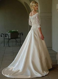 wedding dress lace