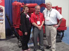 Editor in Chief of #PublicWorks Stephanie Johnston stops by the Griffin Pump booth in Las #Vegas at CONEXPO-CON/AGG 2014. (with Terry Aylward of Griffin Pump and Bob Marinez of Hanley Wood)