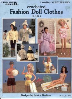 Free Copy of Pattern - Crocheted Fashion Doll Clothes Book 2
