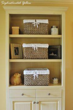 DIY Fabric Basket Liners
