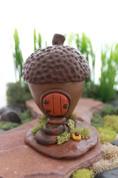 OOAK Fall Acorn Gnome/Fairy Home Collector's Item by GnomeWoods
