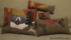 crazy wool pillows