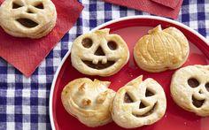 DIY Pumpkin Pie Pop-Tarts made with Halloween cookie cutters. Cute idea.