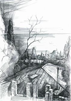 Scetches by Svyatoslav Boyarincev, via Behance