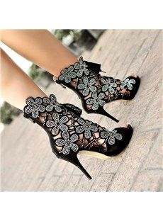 prom shoes, fashion shoes, ankle boots, heel, black shoes, flower power, sandal, flowers, stiletto