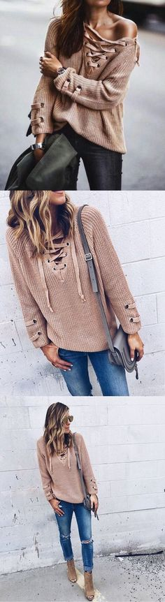 Knit-Tie Pullovers -
