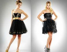 Vestidos de quince en negro y oro - Fifteen dresses in black and gold