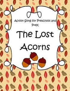 The Lost Acorns - an Action Song and Counting Game for Fall - FREE