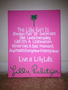 Colorful Lilly Pulitzer Sorority Canvas by EmilysSororityCrafts, $15.00