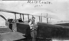 """""""Mark Campbell with pet lion"""" 1920"""