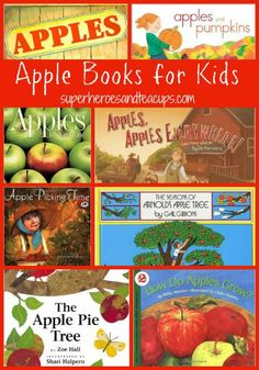 Apple Books for Kids - perfect for a preschool homeschool unit study this fall!