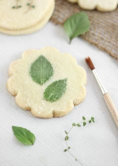 Flower and Herb Shortbread