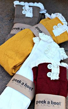 Boot Socks from apricot Lane - the perfect fall accessory!