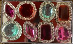 Purple, Turquoise, Hot Pink and Burgundy Edible Jewels for Cakes Assorted Pack