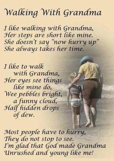 Nothing beats walking with grandma!