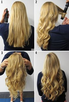 perfectly curled hair