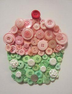 button cupcake wall