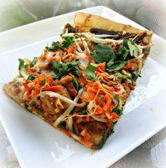 Thai Chicken Pizza savori recip, kitchens, thai chicken, pizzas, kitchen thai, pizza kitchen, tasti recip, chicken pizza, california pizza