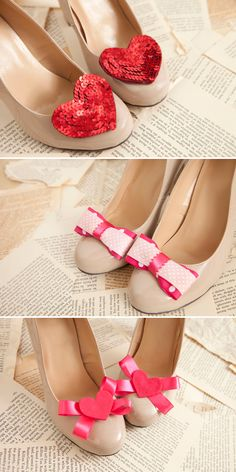 Put a little love in your step with DIY Shoe Clips!