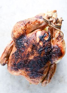 Chipotle Lime Butter Whole Roasted Chicken with Black Bean + Corn Salad | howsweeteats.com