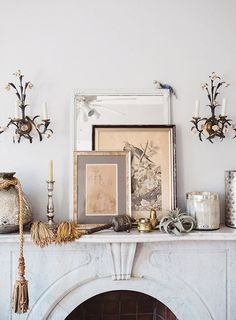 vintage sconces and
