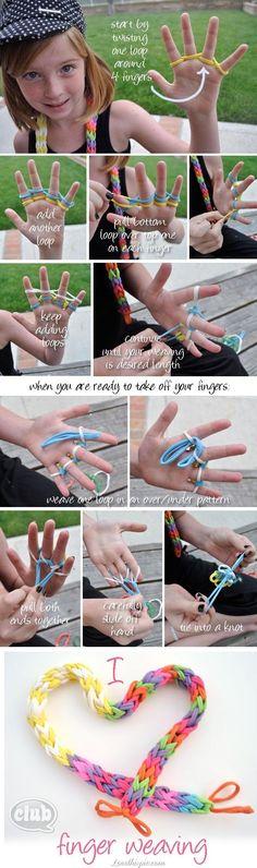 DIY finger weaving diy crafts easy crafts crafty easy diy kids crafts diy jewelry diy bracelet craft bracelet diy weaving weaving