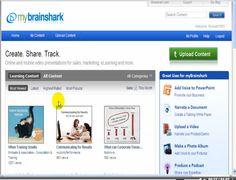 http://www.teachertrainingvideos.com/brain/index.html Brainshark Tutorial