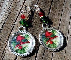 Christmas Earrings Tile Earrings Christmas