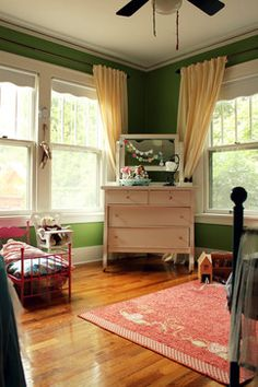 maybe furniture the color of that dresser?