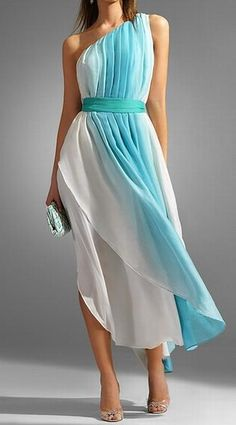 skirt, beach dresses, ombre, bridesmaids, turquoise, maxi, blue, bridesmaid dresses, bridal party dresses