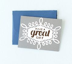DIY Have a Great Day Card. Make It Now in Cricut Design Space