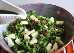 Shredded Kale Salad with Maple Balsamic (Dairy, Gluten and MSG Free)