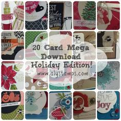 20 Card Designs from the Holiday Catalog!