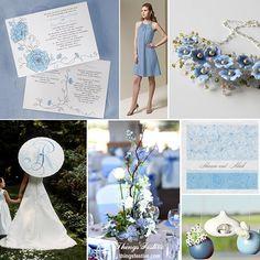 Cornflower Blue Garden Wedding Inspiration #cornflowerblue #cornflowerbluewedding #gardenwedding #wedding