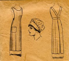 Unsung Sewing Patterns: Vintage Smock Apron -- great website for understanding patterns Unsung Sewing Patterns