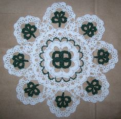 St Patrick's Day Crochet Doily Pattern  Found at:  crochetdoilies.com