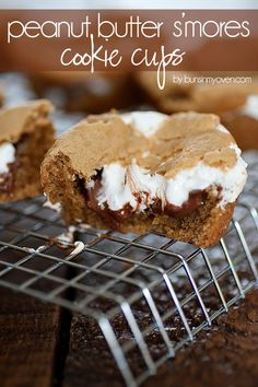Peanut Butter S'mores Cookie Cups recipe