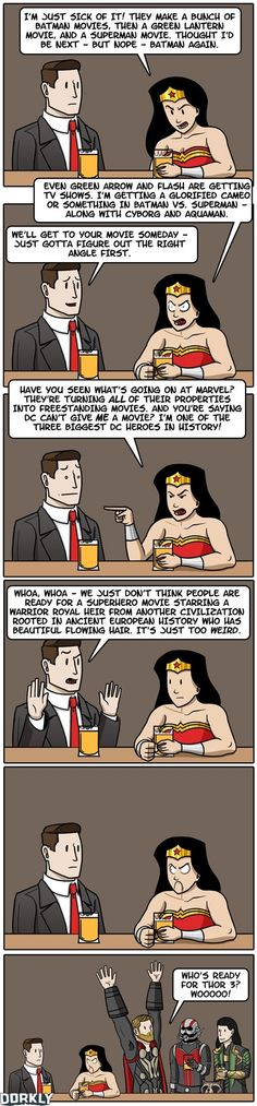 Wonder Woman Always Gets The Short End of The Stick.