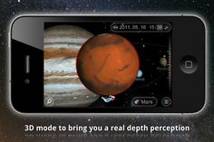 Solar Walk - Hold the universe in the palm of your hand with this app! It is a model of the solar system that allows you to learn all about the stars and other celestial objects. If you have 3D glasses, you can even see the solar system in 3D!