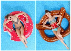 Yummy Pool Floats. I want both of them!