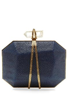 Marchesa Iris Clutch in Ocean Stingray