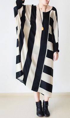 Beige striped cotton