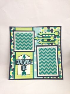 Courtney Lane Designs: Growing Up layout made using The First Few years cartridge.