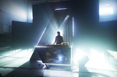 Sick new stage setup for A-Trak by Moment Factory.