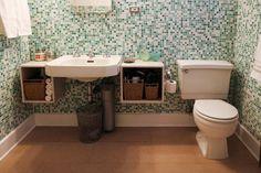 Pedestal Sink With Counter Space : Pedestal Sink Storage
