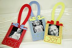 Felt Photo Ornaments by Erin Lincoln for Papertrey Ink (September 2014)