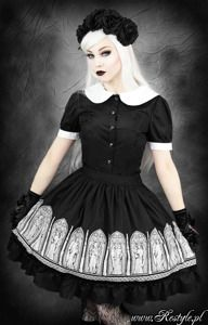 gothic lolita skirt angel, stained glass