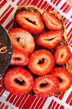 Strawberry Chocolate toast