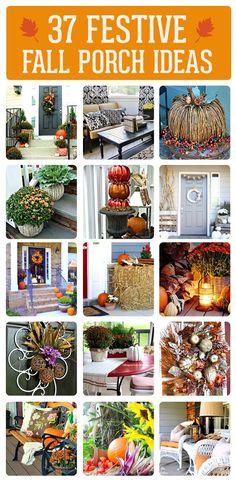 Fall Porch Decorating Inspiration